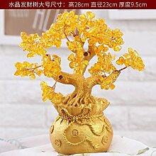 SQBJ Heimtextilien coinside im Wohnzimmer Dekoration Wein Werbegeschenke Zhaocai kleinen Ornamenten, Big crystal fortune Baum