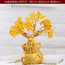 SQBJ Heimtextilien coinside im Wohnzimmer Dekoration Wein Werbegeschenke Zhaocai kleinen Ornamenten, Trompete crystal fortune Baum