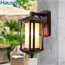 SQIAO moderne LED Wandleuchte Außen-Wandleuchten regen Sonnenschutz Balkon helle Wände und das Rotlichtviertel, Villa Lampe reines Aluminium