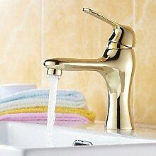 SQL 17 * 6 * 21 Brushed Copper Kalt-und Warmwasser Waschbecken Wasserhahn