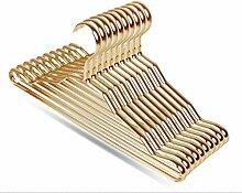 SQL Aluminium Kleiderbügel Haushalt Anti - Slip Kleidung Multifunktions Nahtloser Aufhänger 10St Gold
