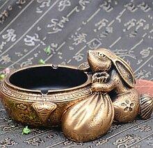 SQL Kaninchen-Aschenbecher kreative Persönlichkeit und schönen chinesischen Stil Dekoration Heimtextilien . gold