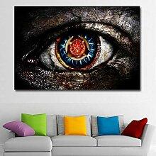 SQSHBBC Digitaldruck Abstrakte Gemälde Gray Eye
