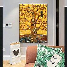 SQSHBBC Gustav Klimt Lebensbaum Kunstdruck