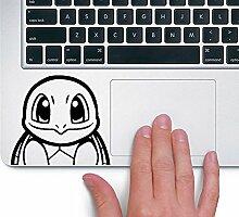 Squirtle Schiggy Pokemon TRACKPAD Sticker Aufkleber (Schwarz)