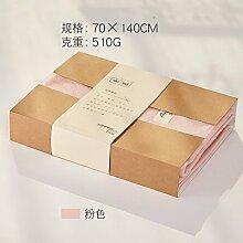 SQYJ Die meisten jugendlichen Badetuch, reine Baumwolle Erwachsene, weich und saugfähig Männer und Frauen erhöhen die Dicke des Fünf-Sterne-Hotel Badetuch 500G, jugendlichsten pink (Geschenk-Box), 140x70cm