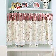 SR Küche Tuch Kurze vorhänge,Fensterdekoration