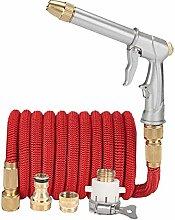 SRJSKR Red Gartenschlauch 1/2 Flexible Erweiterbar