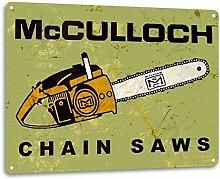 SRongmao McCulloch Metallschild, Kettensägen,