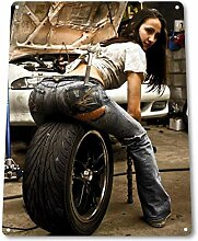 SRongmao Tire Pressure Pinup Girl Sexy Hot Rod