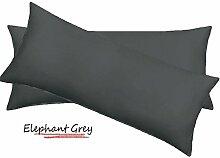 SRP Leinen 450-thread-count Solid Ägyptische Baumwolle Luxus & Super Weich Hausfrau Kissen wählen Sie Farbe und Größe (alle Größen und Farben), Ägyptische Baumwolle, grau, Emperor