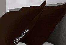 SRP Leinen 550-thread-count massiv Ägyptische Baumwolle Super Soft Luxus Hausfrau Kissen wählen Sie Farbe und Größe (alle Größen und Farben), 100 % Baumwolle, schokoladenbraun, King/ California King Housewife Pillow Cases