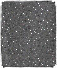 SS Blanket Überwurf-Decke mit Punkten, dunkler
