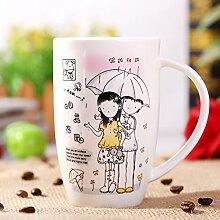 ssby Bone China Tasse Keramik Becher von groß Kapazität Haushalt Wohnzimmer Tee Tasse Drum B