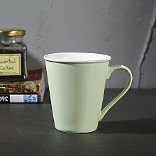 ssby China Becher Büro Tasse aus Keramik Paar Tassen Home Kaffee Tasse grün