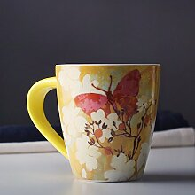 SSBY Die Gelbe Markierung Glas-Keramik-Großer Becher Büro Teetasse