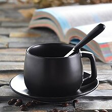 SSBY Einfache Europäischen Stil Kaffeetasse Personalisierte Becher Mit Löffel Zu Hause 3 Amt Kaffee SetzenEin