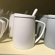 SSBY Für Die Keramik-Becher-Kit Weiße Tasse Kaffee Tee-Cup Nach Hause WohnzimmerWeiße