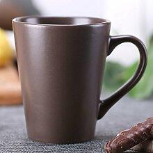 ssby Home Wohnzimmer Trinken Becher Keramik Bulk Büro Trinkbecher Tasse Weiß Kaffee Liebhaber braun