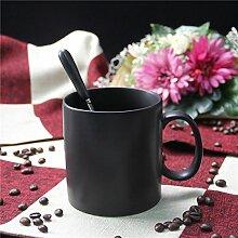 ssby im Büro of Keramik Tassen Kaffeetassen Becher mit der Große Kapazität von Lovers schwarz