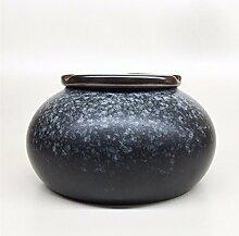 SSBY Keramik-Aschenbecher Büro Persönlichkeit Aschenbecher Tee-Tabelle Wohnzimmer Dekoration Aschenbecher Mit Deckenblau