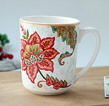 SSBY Keramik-Becher Büro Teetasse Retro-Cup Der Kaffee Milch-CupC