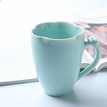 SSBY Keramik-Becher Mit Cover Art Mit Der Tasse Milch Zum Frühstück Eine Tasse KaffeeB