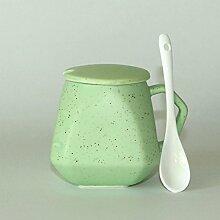 SSBY Keramik-Becher Tasse Milch Zum Frühstück Mit Einer Deckung Der Mark-Cup Bone China Cup Für LiebhaberB