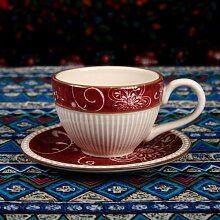 SSBY Keramik-Kaffee Latte Becher Teller Die Schwarzen Tee Tee