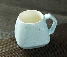 SSBY Keramik-Milch-Cup-Star Cup Becher Mit Decken Löffel Kaffee-LiebhaberC