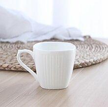 SSBY Keramische Getrunken Becher Vertikale Streifen Von Vier Kleinen Haushalt Kaffeetassen Milch Tee Büro-CupEin