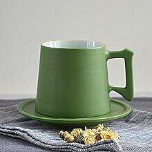SSBY Kreative Einfach Kaffee Grüne Garten - Stil Keramik - Becher Tasse Mit Untertasse