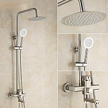 SSBY Kupfer, Badezimmer mit Regendusche, Badewanne oder Dusche, wandhängenden runde Dusche Ki