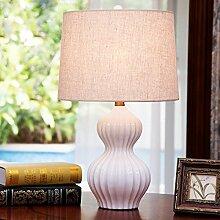SSBY Moderne kreative, warme Schlafzimmer Nachttischlampe weiß Keramik Kürbis, Dekoration Wohnzimmer Tischlampe