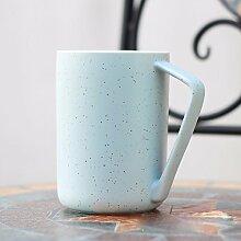 SSBY Persönlichkeit Mit Einer Kaffeetasse Mit Deckel Löffel Krug Keramik-Becher Wasser Ein Paar TassenB