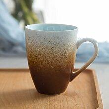 SSBY Retro-Frühstück-Cup Der Wasser-Becher Keramik-Becher Mit Decken Die PersönlichkeitEin
