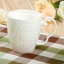 SSBY Retro-Prägung Kaffeetasse Keramik-Becher Privaten Wohnzimmer Küche Teetasse