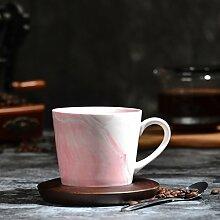 ssby Simple Creative Style Kaffeetasse aus Keramik Marmor Farbe Paar Becher a