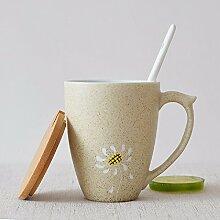 SSBY Vertrag Tassen Keramik Becher Becher, kreative Persönlichkeit Anpassung paar Becher mit Deckel Löffel Kaffeetassen geschenk Tassen,02