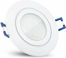 SSC-LUXon RW-2 Einbaustrahler LED flach in weiß