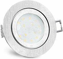 SSC-LUXon RW-2 flacher LED Einbaustrahler IP44 Alu