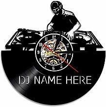 SSCLOCK 1 Stück DJ Mixer Wanduhr Ihr Name