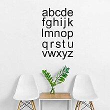 SSCLOCK Alphabet Wandaufkleber Wand Frühkindliche