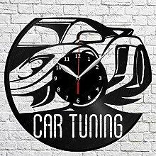 SSCLOCK Auto Tuning Vinyl Schallplatte Wanduhr