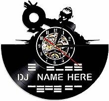 SSCLOCK DJ Mixer Schallplatte Wanduhr Dekorieren