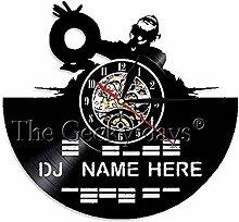SSCLOCK DJ Mixer Vinyl Wanduhr mit moderner Musik