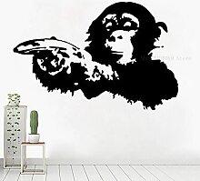 SSCLOCK Kreative Gorilla Cartoon Wandaufkleber