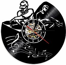 SSCLOCK Plattenspieler Mixer DJ Wanduhr Deejay