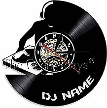 SSCLOCK Schallplatte Wanduhr DJ Mixer Schallplatte