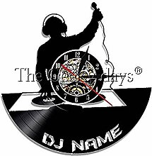 SSCLOCK Vinyl Wanduhr DJ Mixer Schallplatte Vinyl